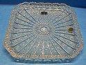 Tác broušený skleněný křišťálový velký čtvercový Luxusní brus O332