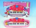 Dětské piáno na baterie Hello Kitty pianko 25 kláves se zvukem s funkcí záznamu