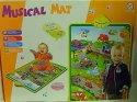 Hrací podložka zvuková Doprava interaktivní koberec i pro nejmenší děti s 12 zvuky