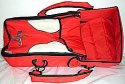 Přenosní vnitřní taška vložná do kočárku červeno béžová