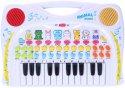Karaoke piano dětské Keyboard Animal se zvířecími hlasy a nahráváním na baterie pro malé muzikanty