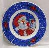 Vánoční talíř modrý Santa Claus