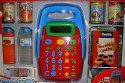 Pokladna moderní s vybavením nákupem a penězi