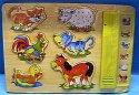 Dřevěná vkládačka puzzle Domácí zvířata