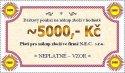 Dárková poukázka na hodnotu 5000 Kč