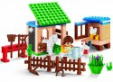 Stavebnice domácí zvířátka - zahrádka se zvířátky s figurkou 115 ks v krabici Banbao