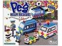 Stavebnice 3D Peg 6000 dílná korálková zažehlovací vyplňovačka Ambulance, vrtulník a policejní auto