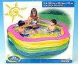 Bazén velký hranatý barevný nafukovací